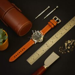 Light Brown Stitched Watch Strap To Fit Panerai Watches