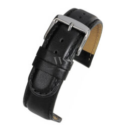 Henley Extended Extra Long Black Leather Watch Strap