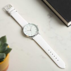 White Extra Long Calf Watch Strap
