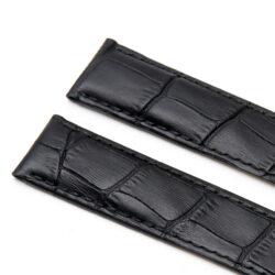 Tag Heuer 6000 Series Black Stitch Watch Strap