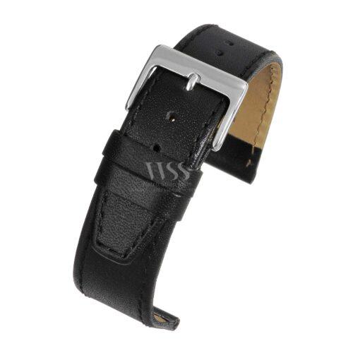 Mayfair Subtle Black Calf Stitched Watch Strap