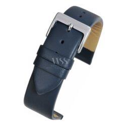 Windsor Smooth Dark Blue Leather Watch Strap