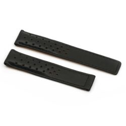 Tag Heuer Carrera Black Sports Perforated Watch Strap