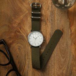 Weaverham Zulu Dark Green Nylon Watch Strap