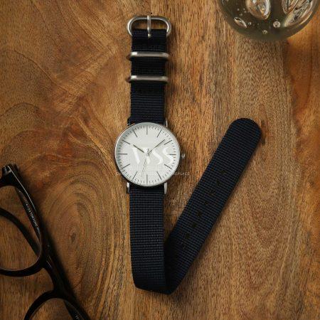 Zulu Dark Blue Nylon Watch Strap