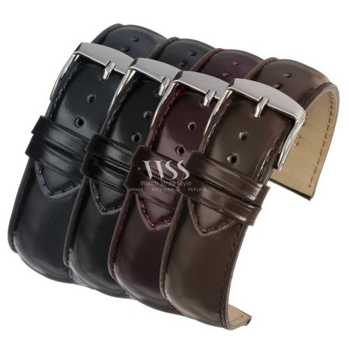 Henley Superior Gloss Leather Watch Straps