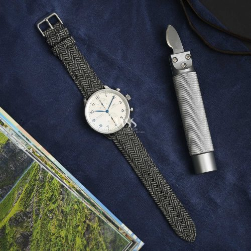 Sandbank Tweed Black Watch Strap