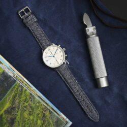 Sandbank Tweed Blue Watch Strap