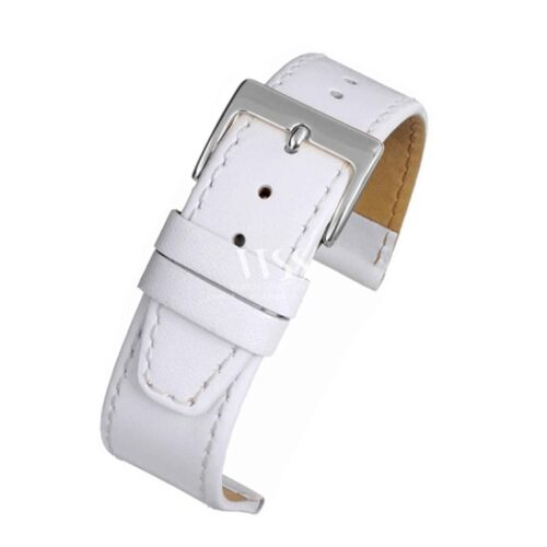 Mayfair Subtle White Calf Stitched Watch Strap