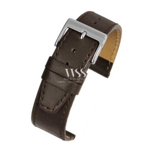 Mayfair Subtle Brown Leather Watch Strap