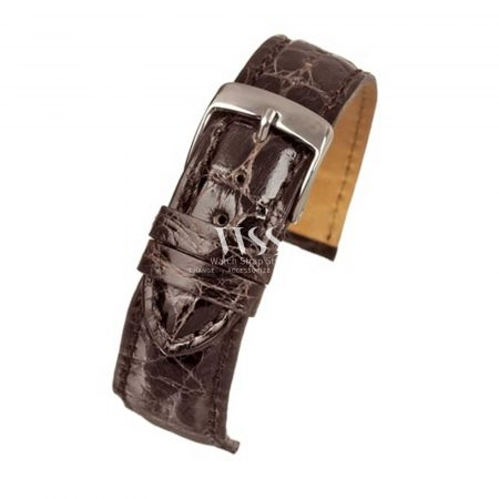 Autentico Dark Brown Italian Genuine Crocodile Watch Strap