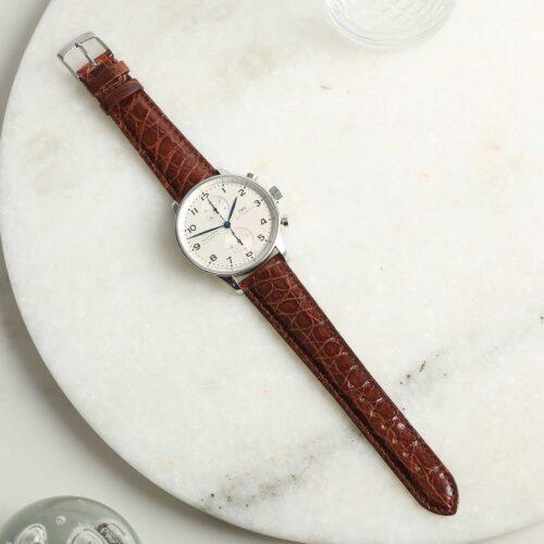 Autentico Italian Genuine Crocodile Brown Watch Strap