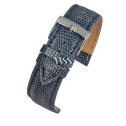 Autentico Blue Italian Genuine Lizard Watch Strap