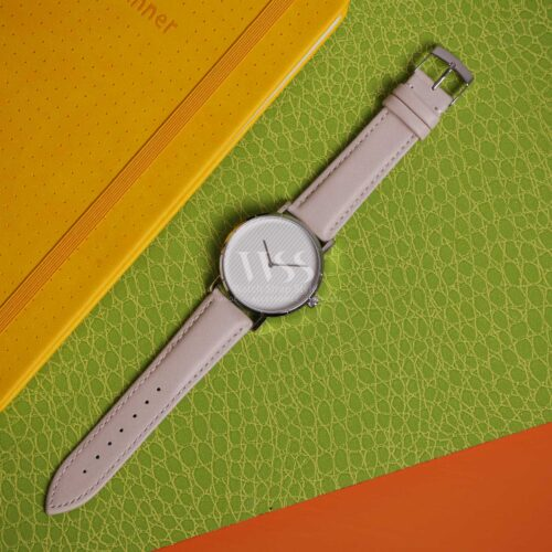 Cream Leather Free Quick Release Watch Strap