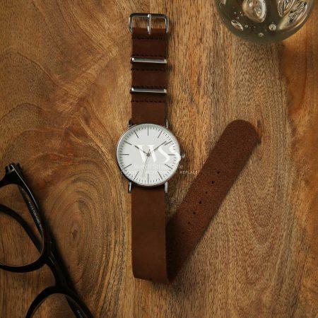 Weaverham Nato Brown Leather Watch Strap