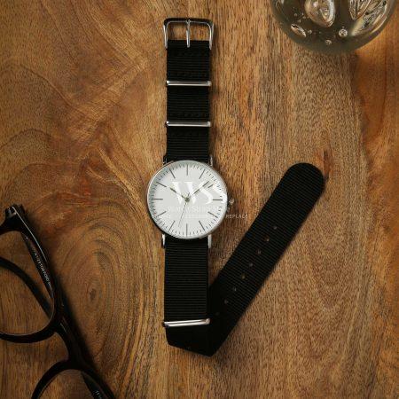 Weaverham Nato Black Nylon Watch Strap