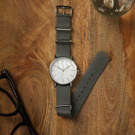Weaverham Nato Grey Nylon Watch Strap