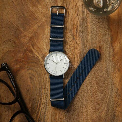 Weaverham Nato Blue Nylon Watch Strap