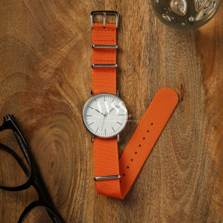 Weaverham Nato Orange Nylon Watch Strap