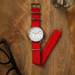 Weaverham Nato Red Nylon Watch Strap