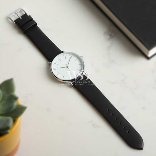 Windsor Smooth Black Calf Watch Strap