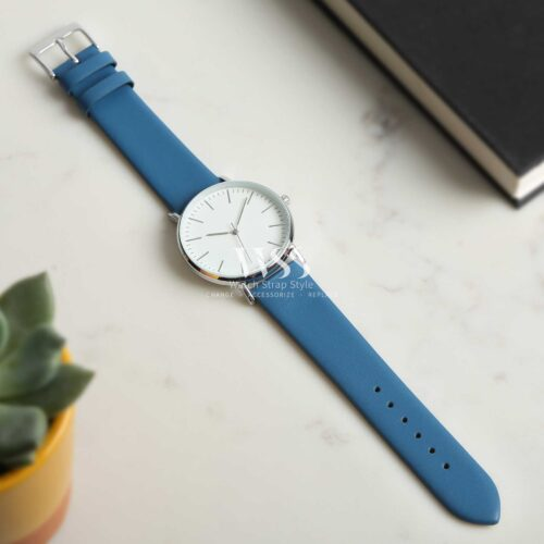Windsor Smooth Light Blue Calf Watch Strap