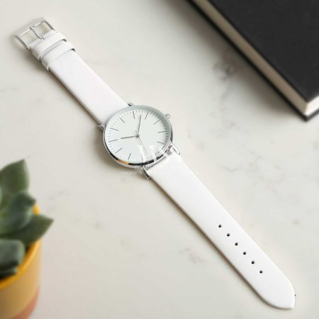 Windsor Smooth White Calf Watch Strap