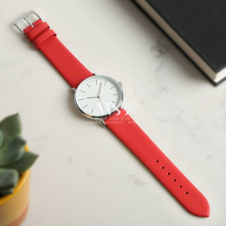 Windsor Smooth Red Calf Watch Strap