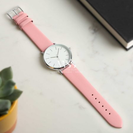 Windsor Smooth Pink Calf Watch Strap