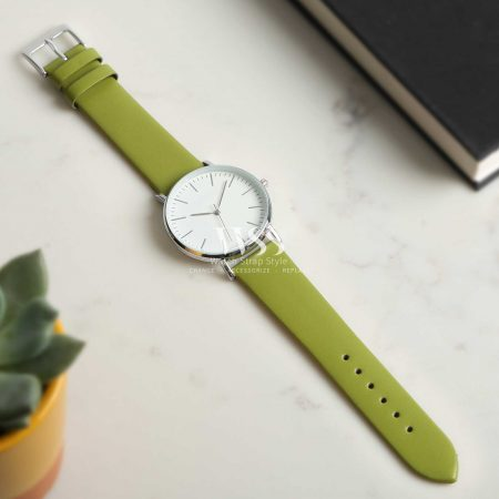 Windsor Smooth Lime Green Calf Watch Strap