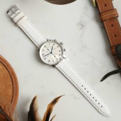 Autentico White Italian Genuine Lizard Watch Strap