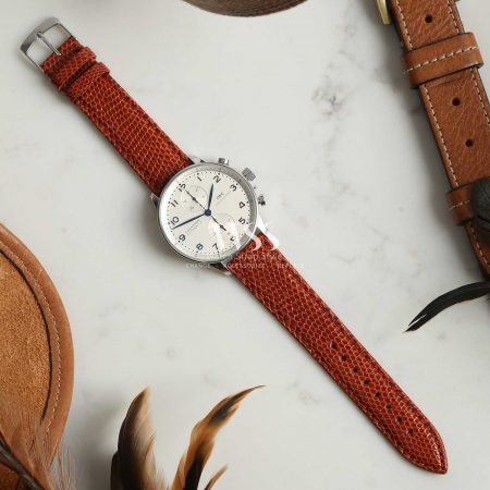 Autentico Brown Italian Genuine Lizard Watch Strap