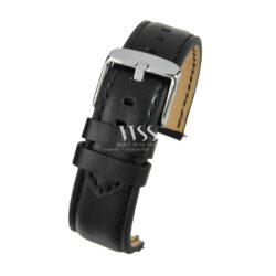 Submerge Aqua Quick Release Black Leather Water Resistant Watch Strap