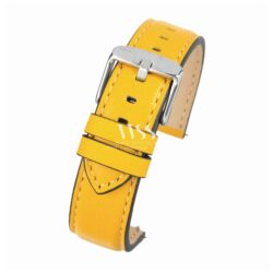 Submerge Aqua Quick Release Yellow Leather Water Resistant Watch Strap