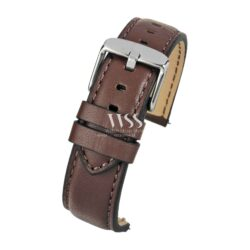 Submerge Aqua Quick Release Brown Leather Water Resistant Watch Strap