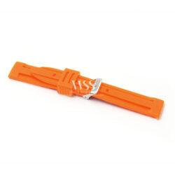 Submerge Limit Silicone Orange Watch Strap