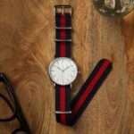 Weaverham Nato Blue Red Nylon Watch Strap