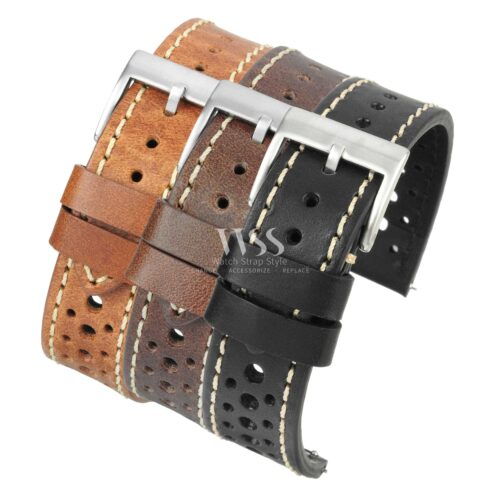 Silverstone Driver Leather Perforated Quick Release Watch Straps