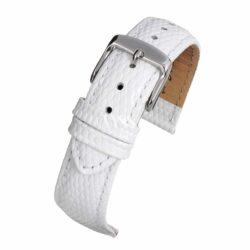 Windsor Pretty Pastel White Lizard Grain Watch Strap