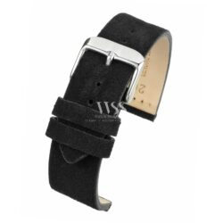 Kensington Napped Suede Black Watch Strap