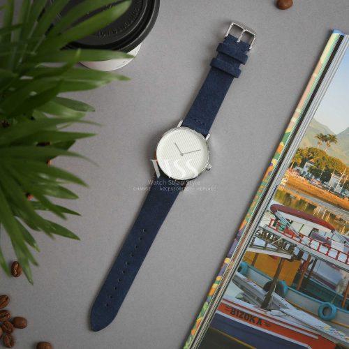 Kensington Napped Suede Blue Watch Strap