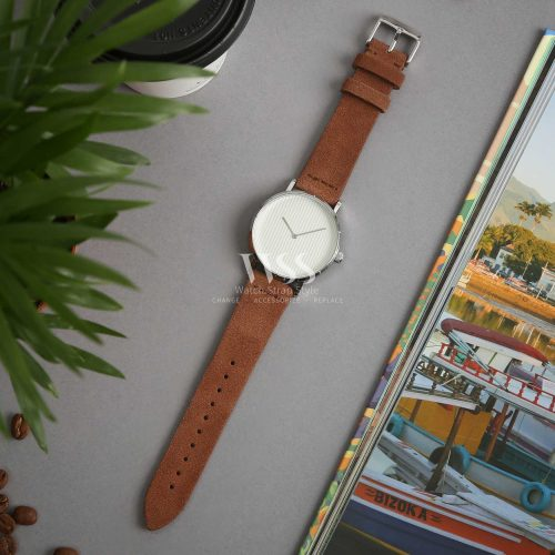 Kensington Napped Suede Brown Watch Strap