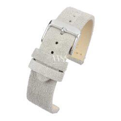 Kensington Napped Suede White Watch Strap