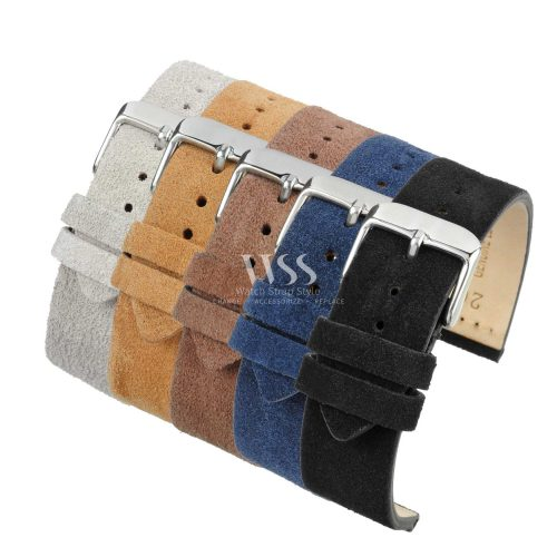 Kensington Napped Suede Leather Watch Straps