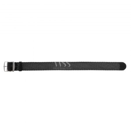 Weaverham Braid Black Nylon Watch Strap