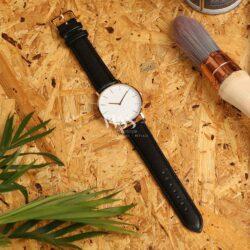 Windsor Buffalo Grain Dark Brown Padded Watch Strap