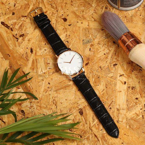 Windsor Crocodile Grain Value Black Watch Strap