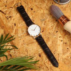Windsor Crocodile Grain Value Brown Watch Strap