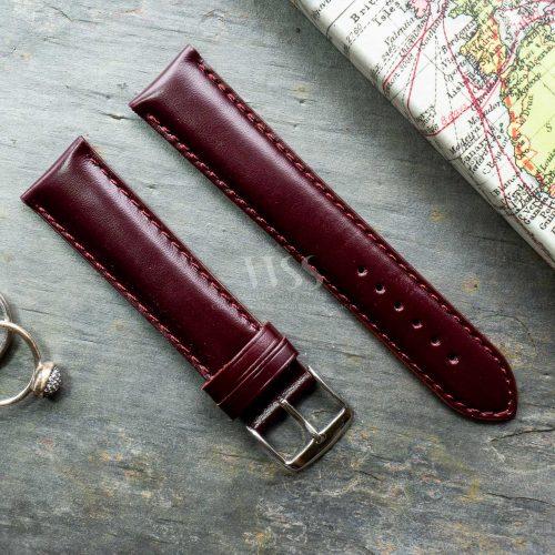 Henley Superior Burgundy Gloss Watch Strap